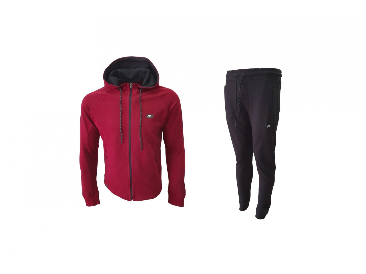 Nike Tracksuit New Model Bordo & Dark Grey