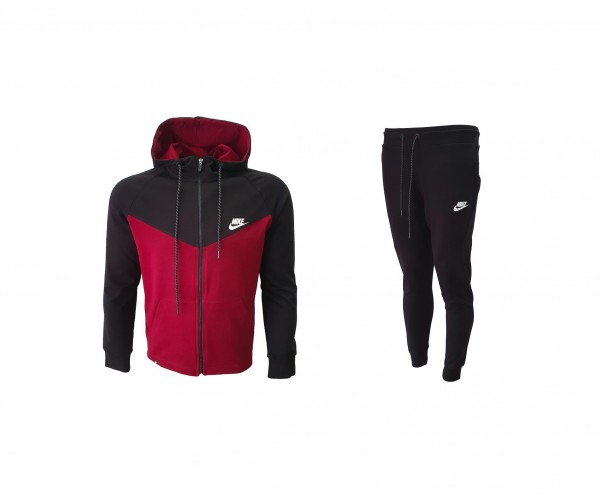 Nike Tracksuit Top Model Bordo & Black
