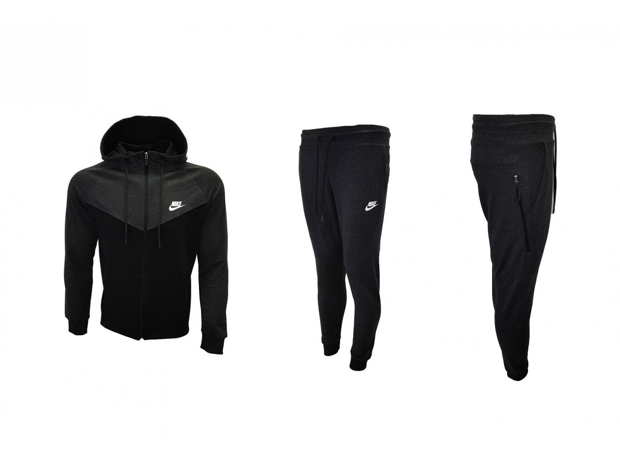 Nike Tracksuit Top Model Black & Dark Grey