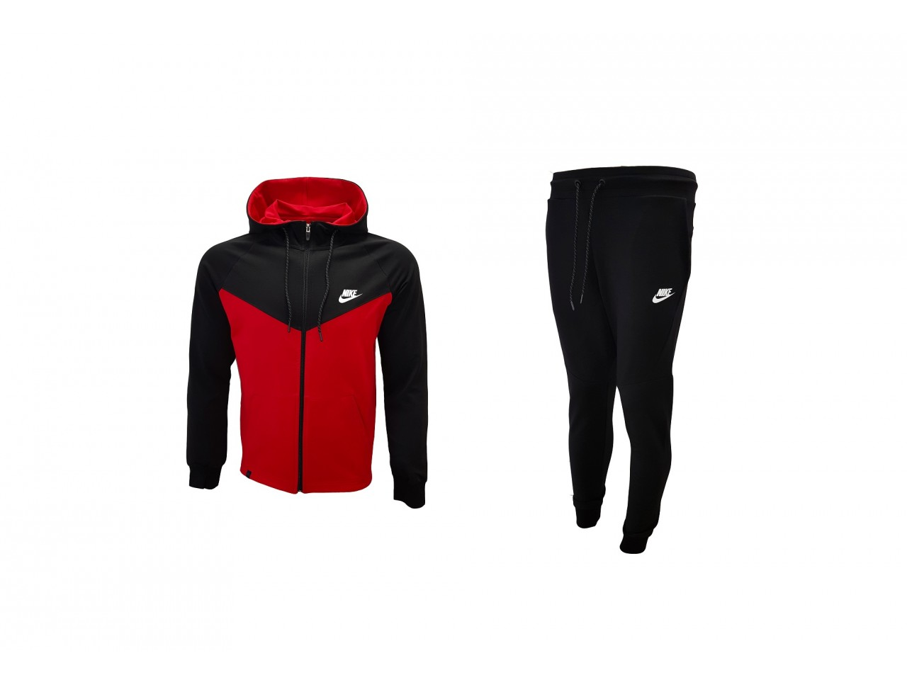 Nike Tracksuit Top Model Black & Red