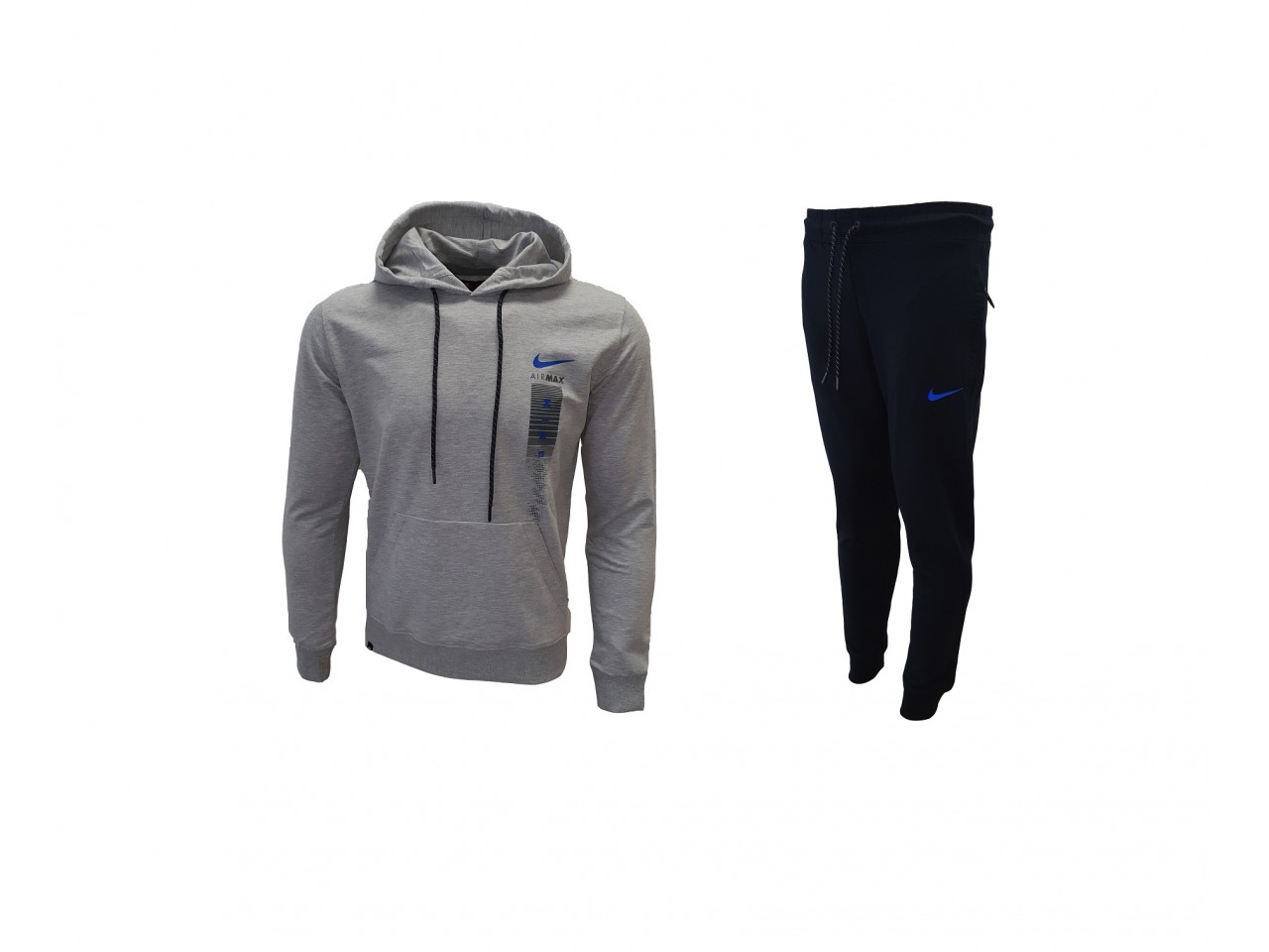 Nike AIRMAX Sweatshirt + Pants Light Grey Dark Blue