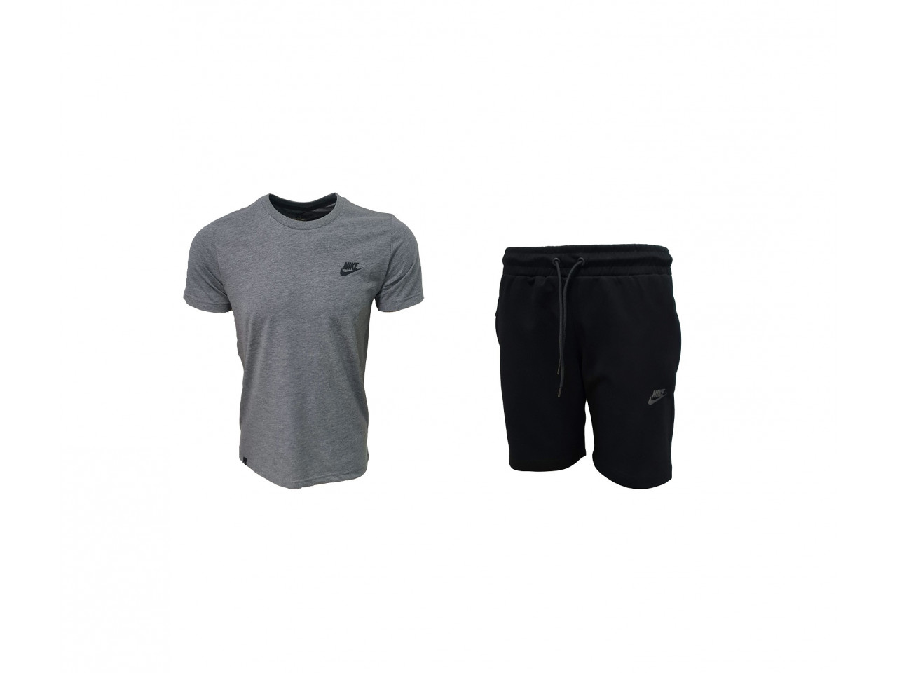 Nike INC. Shorts+ T-shirt Dark Grey & Black