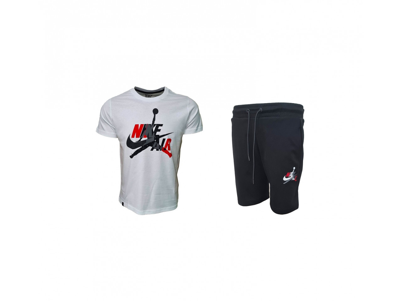 Nike AIR Shorts+ T-shirt White & Black