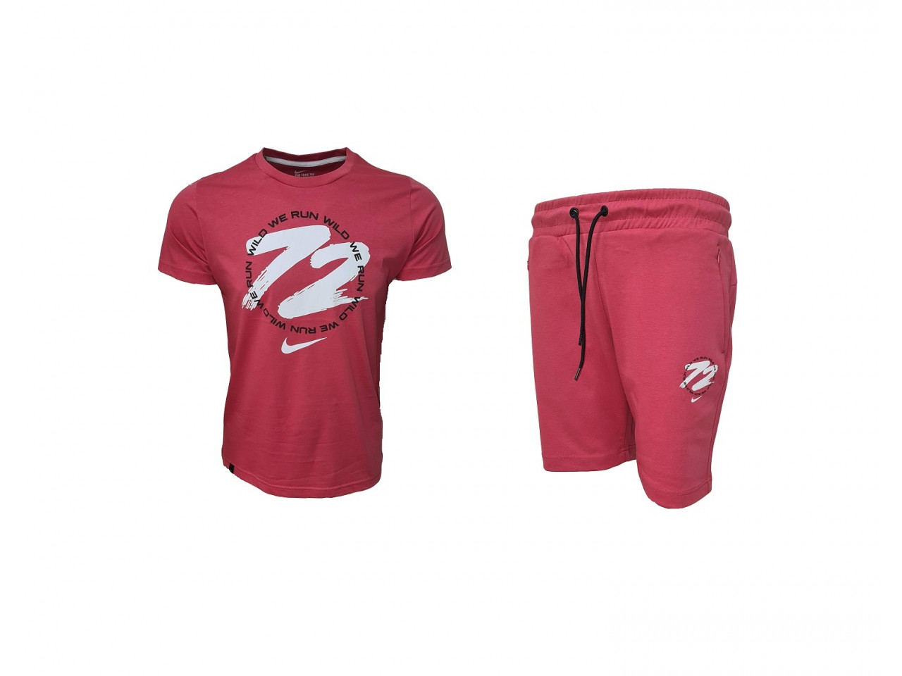 Nike 72 Shorts+ T-shirt Dark Rose