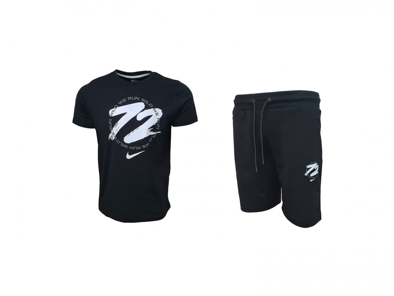 Nike 72 Shorts+ T-shirt Black