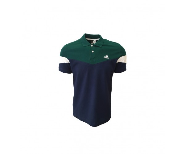 Adidas Polo T-shirt Dark Blue Green White