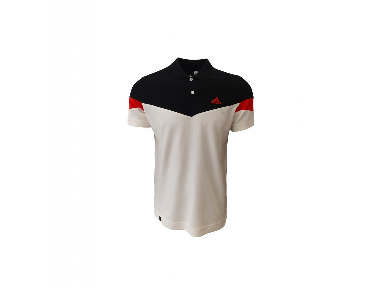 Adidas Polo T-shirt Black Red