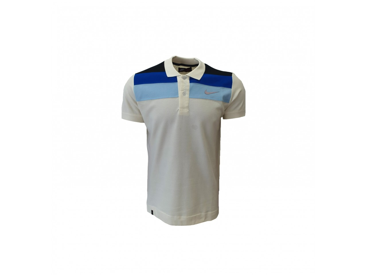Nike Polo T-Shirt White Light Blue Dark blue