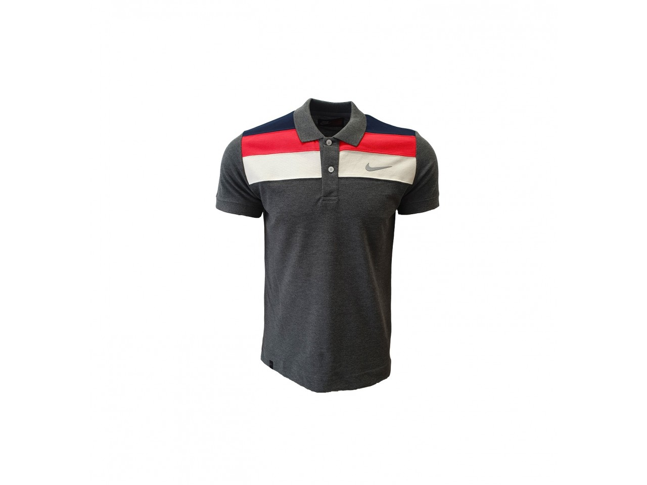 Nike Polo T-Shirt Dark Grey Dark Blue Red