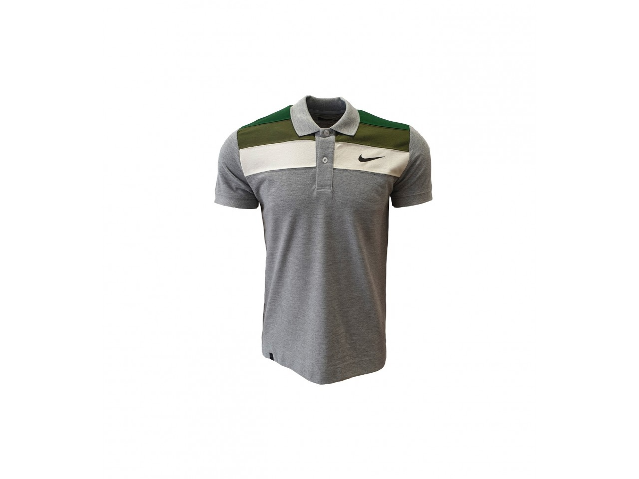 Nike Polo T-Shirt Light Grey Green