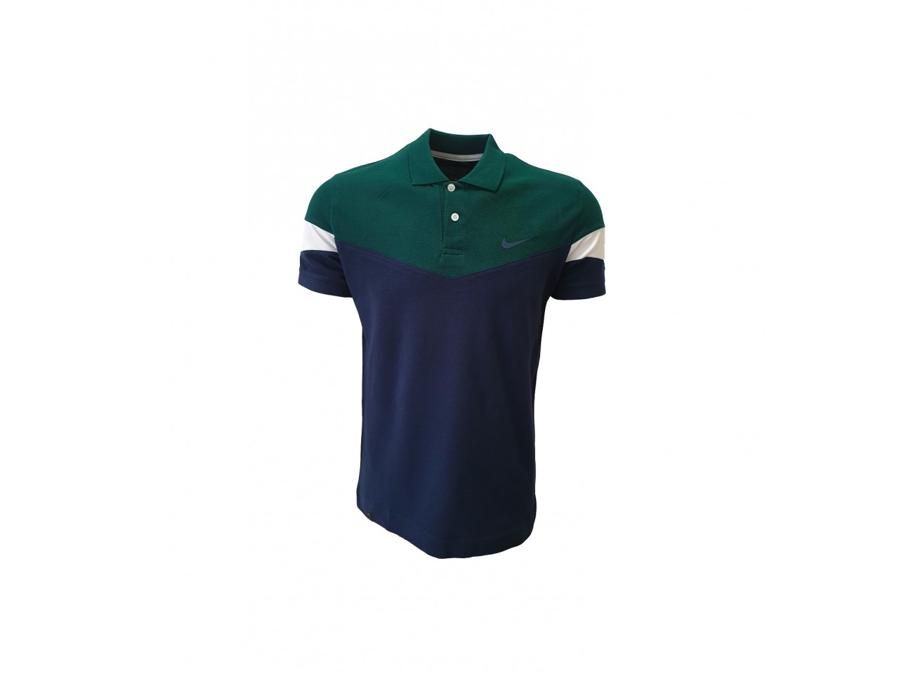Nike Polo T-Shirt Dark Blue Green