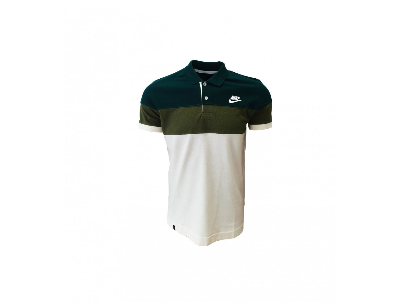 Nike Polo T-Shirt White Green