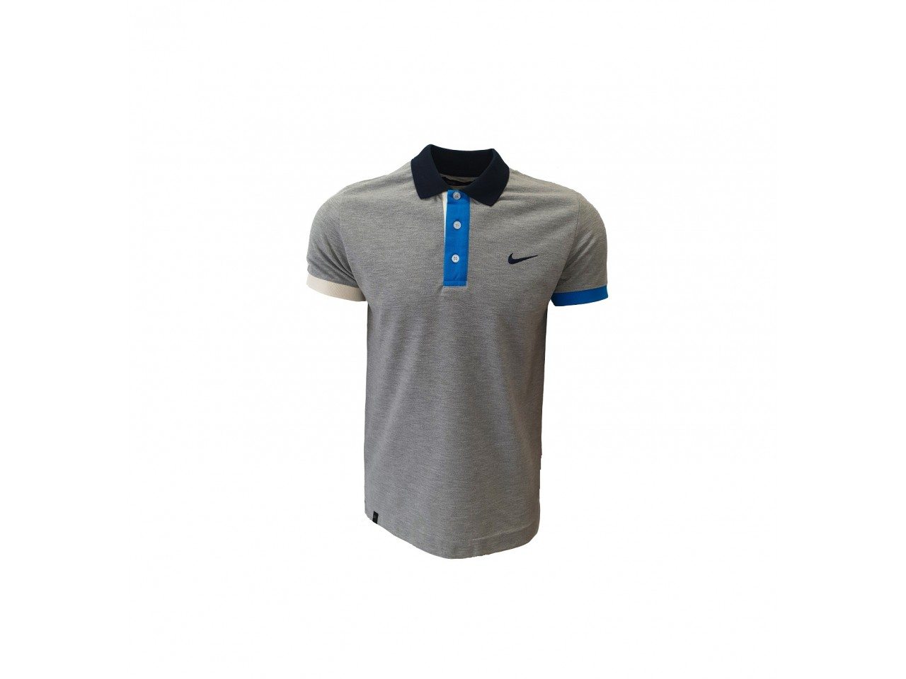 Nike Polo T-Shirt Light Grey Light Blue Dark Blue
