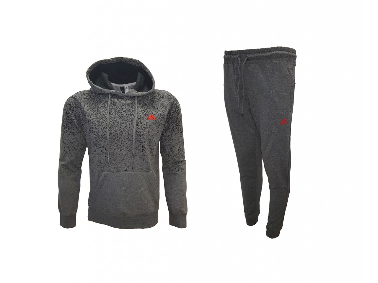 Adidas Points Sweatshirt + Pants Dark Grey Red