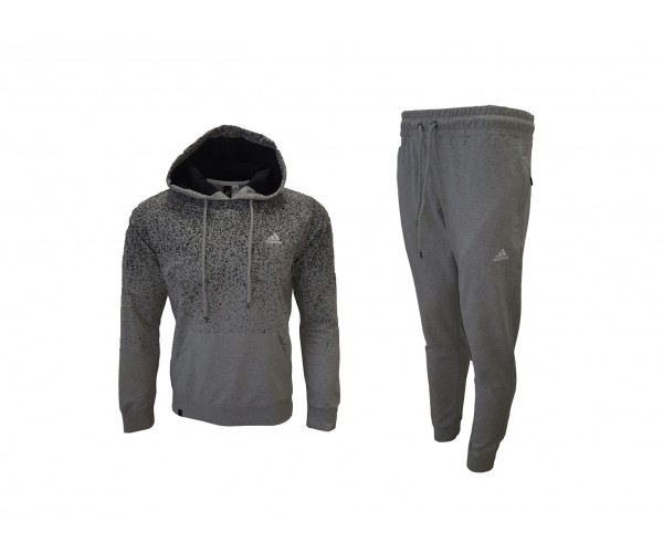 Adidas Points Sweatshirt + Pants Light Grey