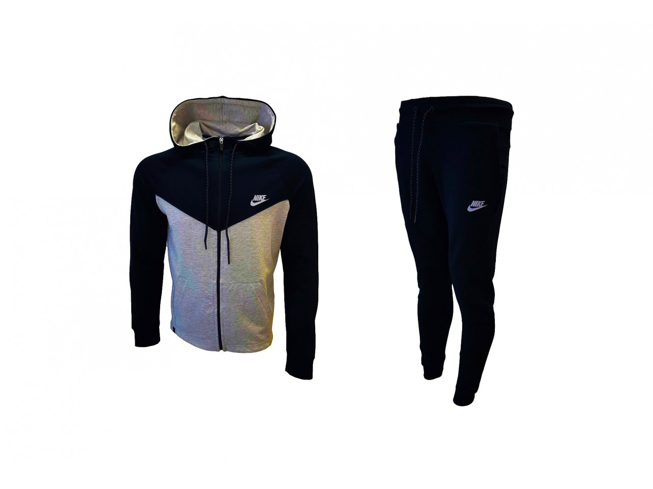 Nike Tracksuit Top Model Black Light Grey